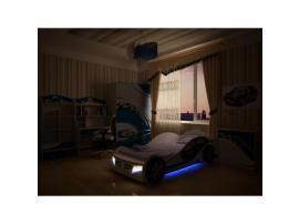 Кровать машина La-Man (синяя) изображение 7