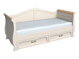Кровать-диван 90*200 Лебо (бежевый воск/браун) 60790