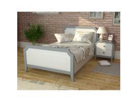 Кровать София 90х200 (серый лак) изображение 3