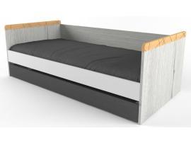 Кровать малая с доп местом НьюТон Грей изображение 1