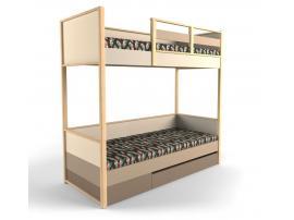Кровать 2-х ярусная с фальшпанелью Робин Wood - Левая изображение 1