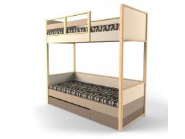 Кровать 2-х ярусная с фальшпанелью Робин Wood - Правая изображение 1