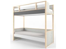 Кровать 2-х ярусная НьюТон Грей