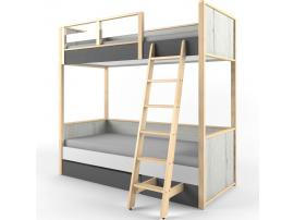 Кровать 2-х ярусная с фальшпанелью НьюТон Грей изображение 2