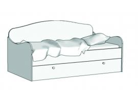 Кровать Диван (с ящиком на шариковых направляющих) KS-16Q с рисунком