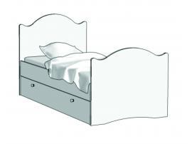 Кровать Эксклюзив (с ящиком на шариковых направляющих) KX-16Q с рисунком
