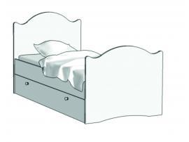 Кровать Эксклюзив (с независимым ящиком) KX-16Y с рисунком