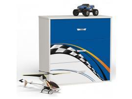 Комод 4 ящика La-Man (синий)
