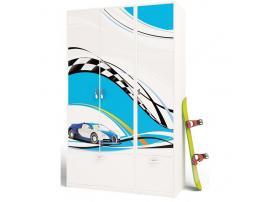 Шкаф ABC 2-х дверный La-Man (синий) изображение 2