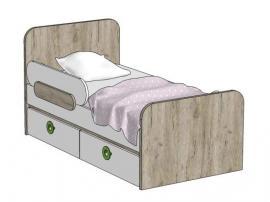 Кровать с 2-мя ящиками (универсальная) MB2-160Q MINI PRINT