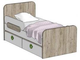 Кровать с 2-мя ящиками (универсальная) MB2-160Q Клюква Мини изображение 1