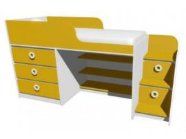 Кровать-чердак с комодом MBR1Q Клюква Мини изображение 2