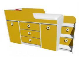 Кровать-чердак с системой хранения MBR3Q Клюква Мини изображение 2