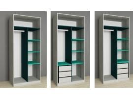 Шкаф 2-х дверный НьюТон розовый изображение 5