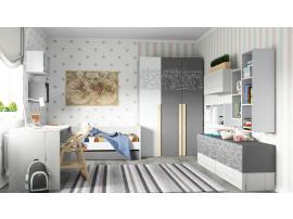 Кровать малая с доп местом НьюТон Грей изображение 5