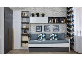 Кровать с доп местом НьюТон Грей изображение 2