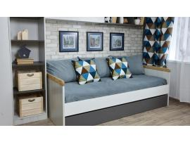 Кровать малая с доп местом НьюТон Грей изображение 4