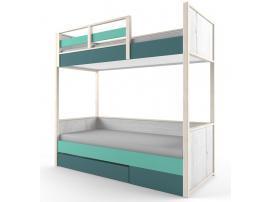 Кровать 2-х ярусная с фальшпанелью НьюТон изображение 1