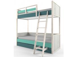 Кровать 2-х ярусная с фальшпанелью НьюТон изображение 2