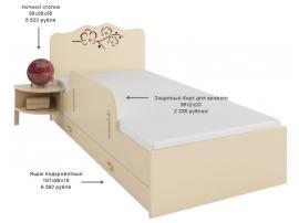 Защитный борт для кровати Орхидея