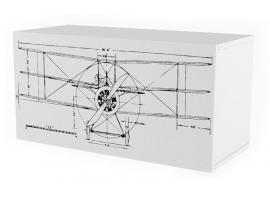 Полка 2 куба c фасадом НьюТон Грей Авиатор изображение 1