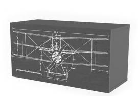 Полка 2 куба c фасадом НьюТон Грей Авиатор изображение 2