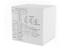 Полка куб c фасадом НьюТон Грей Авиатор изображение 1