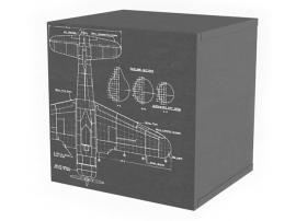 Полка куб c фасадом НьюТон Грей Авиатор изображение 2