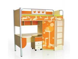 Кровать-чердак Полосатый рейс (жирафы)