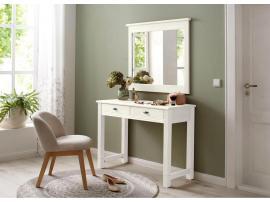 Столик туалетный с зеркалом Рауна (белый воск) изображение 5