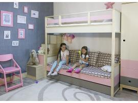 Кровать 2-х ярусная с ящиком Робин Wood - Левая изображение 2