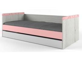 Кровать малая НьюТон розовая изображение 1