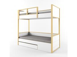 Кровать 2х-ярусная с фальшпанелью Робин Wood Лайт изображение 1