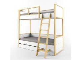 Кровать 2х-ярусная с фальшпанелью Робин Wood Лайт изображение 2