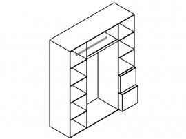 Шкаф 4-дверный с рисунком 2piR изображение 3