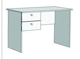 Стол письменный с 2-мя ящиками Авто S1-110Q с рисунком изображение 2