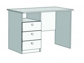 Стол письменный с 3-мя ящиками Авто S2-110Q с рисунком изображение 2