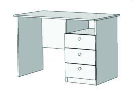 Стол письменный с 3-мя ящиками Авто S2-110Q с рисунком изображение 1