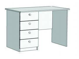 Стол письменный с 4-мя ящиками Авто S3-110Q с рисунком изображение 2