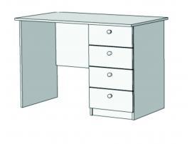 Стол письменный с 4-мя ящиками Авто S3-110Q с рисунком изображение 1