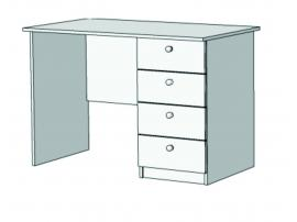 Стол письменный с 4 ящиками S3-110Q изображение 1