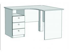 Стол письменный угловой с 3-мя ящиками Авто S5-1211Q с рисунком изображение 1