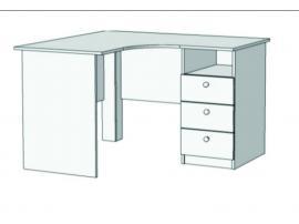 Стол письменный угловой с 3 ящиками S5-1211Q с рисунком изображение 1