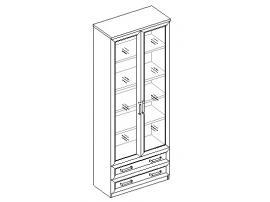 Шкаф для книг 2дв. 2ящ.