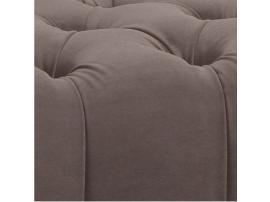 Кровать с мягкой спинкой каретная стяжка София 180х200 (серый лак) изображение 2