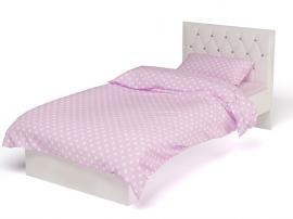 Кровать Фея с кожаным изголовьем со стразами изображение 1