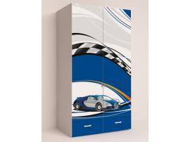 Шкаф 2-х дверный La-Man (синяя) изображение 3