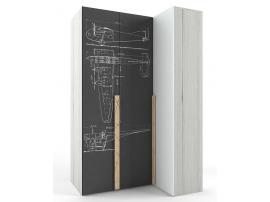 Шкаф угловой НьюТон Грей (левый) изображение 3