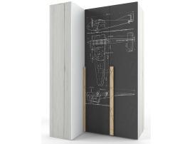 Шкаф угловой НьюТон Грей Авиатор (правый) изображение 1