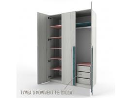Шкаф 3-х дверный НьюТон розовый изображение 3